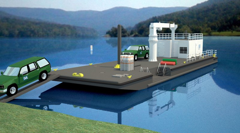 TVA Deck Barge