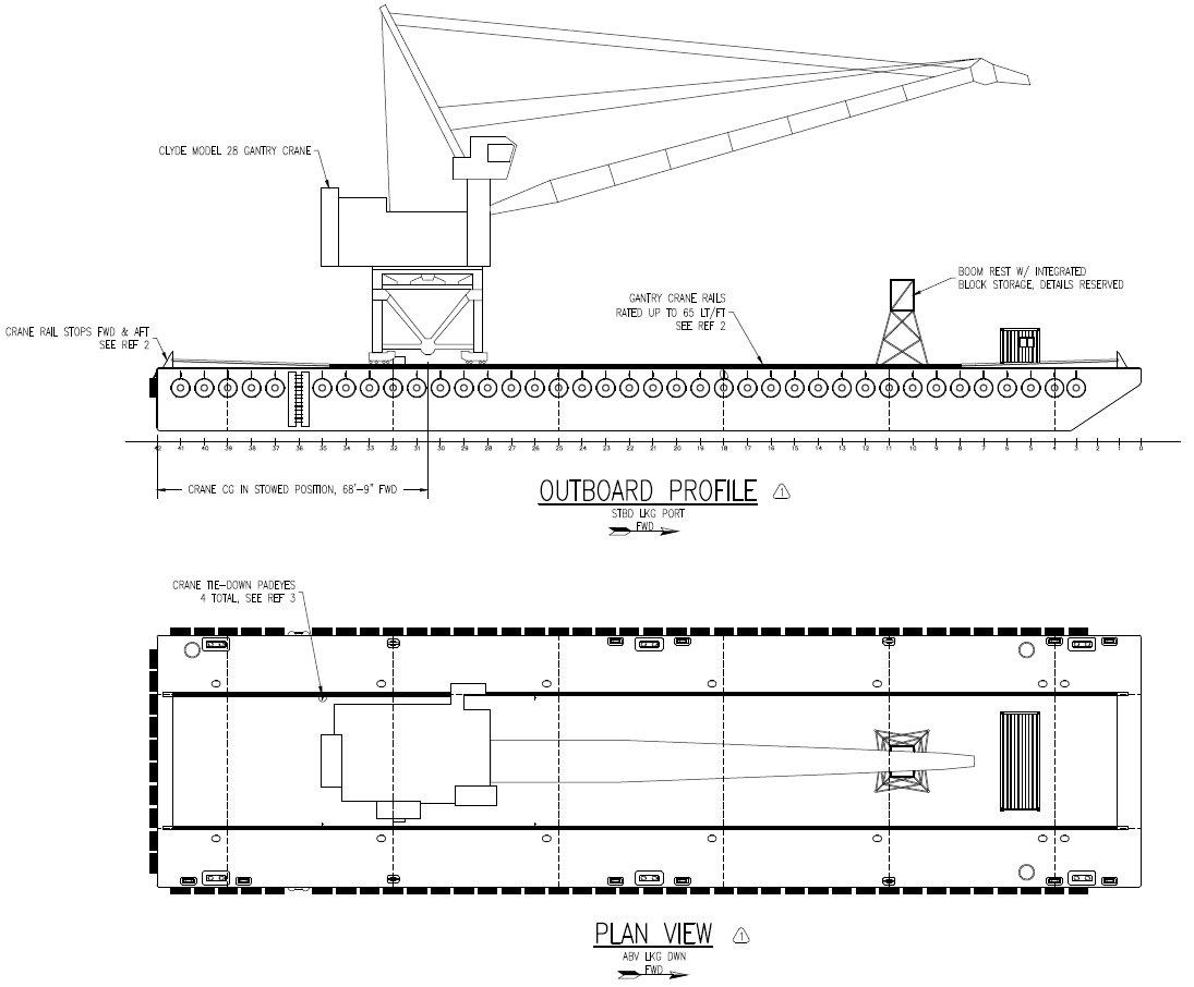 JMS-Designed Gantry Crane Barge for Weeks Marine   JMS Naval