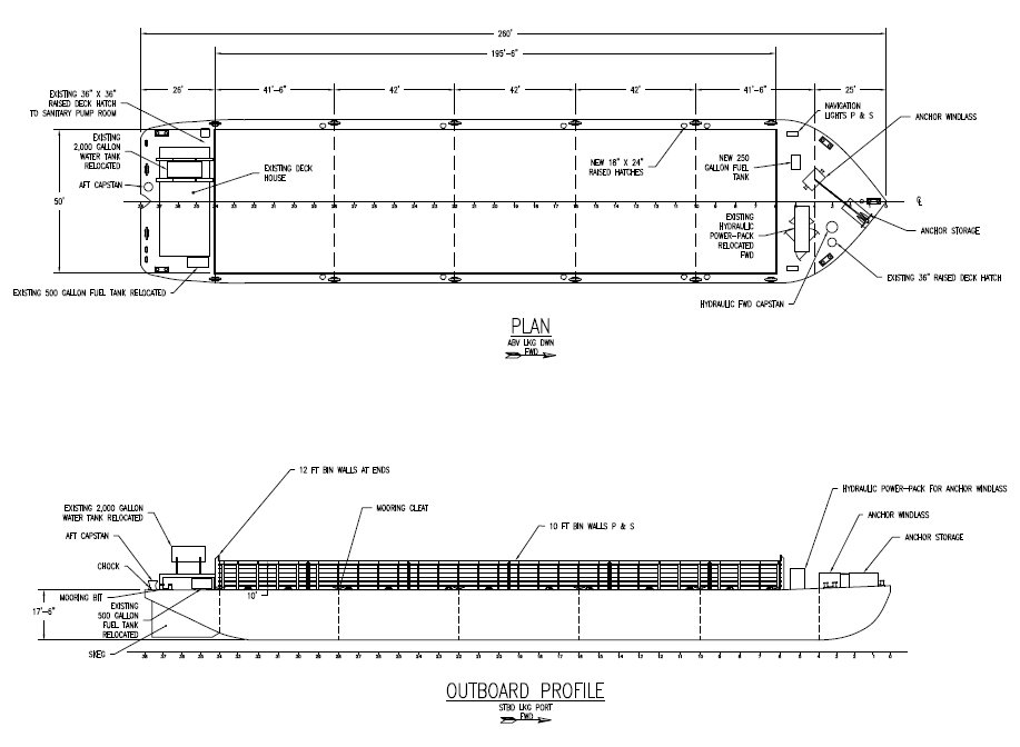 JMS-Designed Barge Conversion for Port of Coeymans Marine